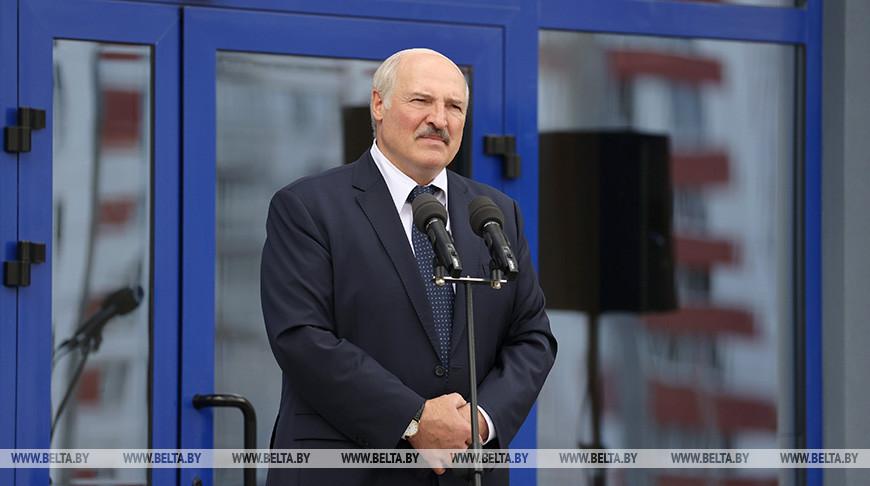 Александр Лукашенко во время торжественного открытия