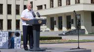 Выступление Александра Лукашенко в Минске на митинге за сохранение спокойствия, мира и безопасности в Беларуси