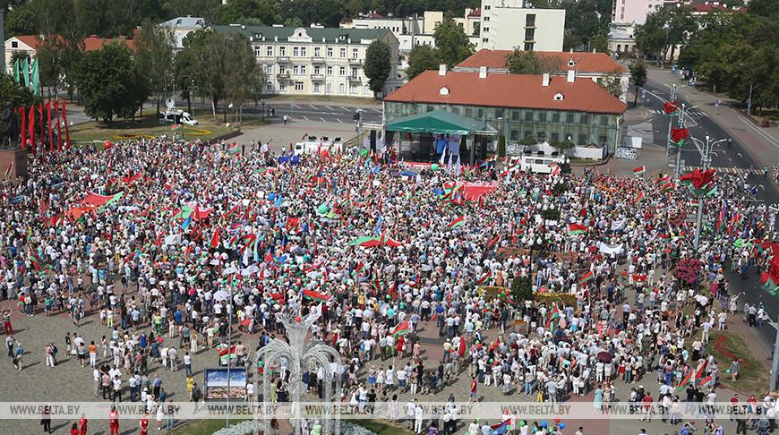 На митинге в Гродно