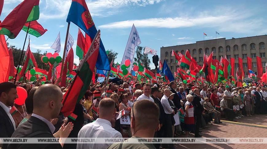 Во время митинга