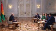 Лукашенко дал интервью ведущим российским СМИ