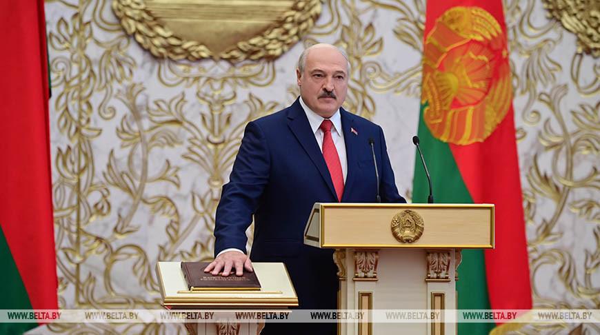 О белорусской нации, приоритетах и своей главной задаче — Лукашенко вступил в должность Президента Беларуси