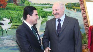 Александр Лукашенко и Гурбангулы Бердымухамедов. Фото из архива