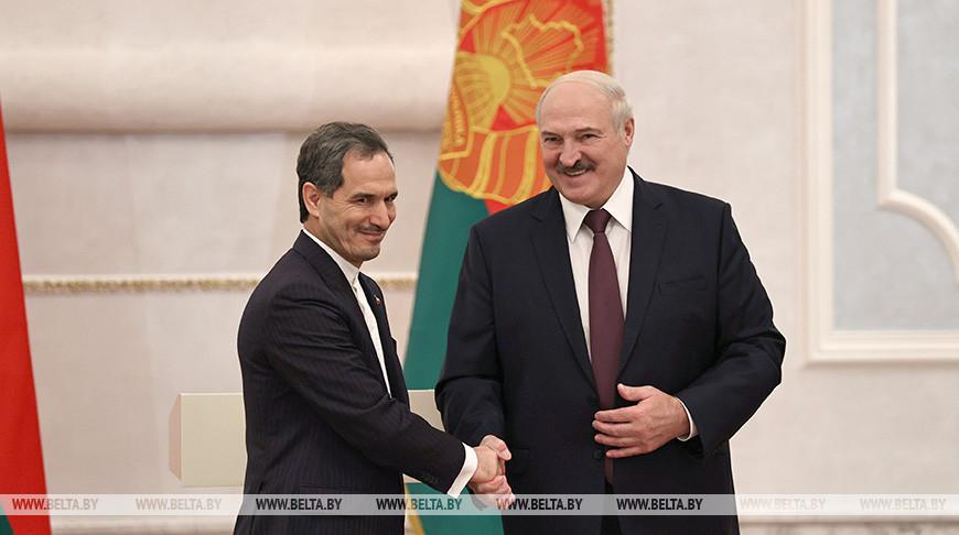 Посол Ирана Саид Яри и Президент Беларуси Александр Лукашенко
