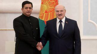 Саджад Хайдер Хан и Александр Лукашенко