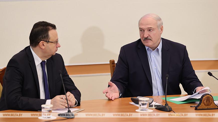 Дмитрий Пиневич и Александр Лукашенко