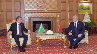 Гурбангулы Бердымухамедов и Александр Лукашенко. Фото из архива