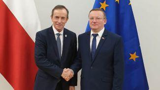 Томаш Гродзки и Владимир Чушев. Фото посольства Беларуси в Польше
