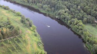 На реке Днепр. Фото из архива