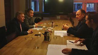 Во время встречи. Фото посольства Беларуси в Бельгии