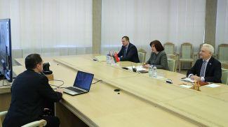 Во время переговоров по видео-конференц-связи