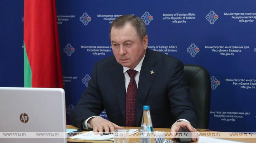 Владимир Макей во время видеоконференции
