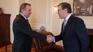 Владимир Макей и Эйнарс Семанис. Фото МИД