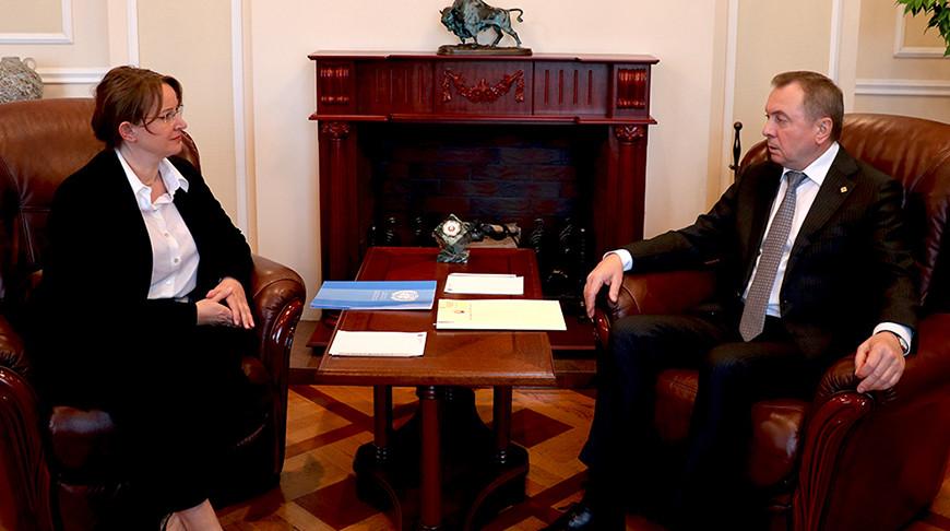 Иоанна Казана-Вишневецкий и Владимир Макей. Фото МИД