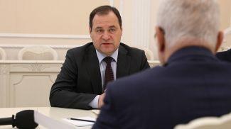 Роман Головченко во время встречи