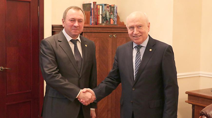 Макей и Лебедев обсудили тему белорусского председательства в СНГ в 2021 году