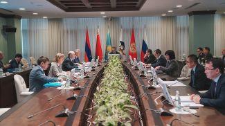Во время заседания коллегии. Фото ЕЭК