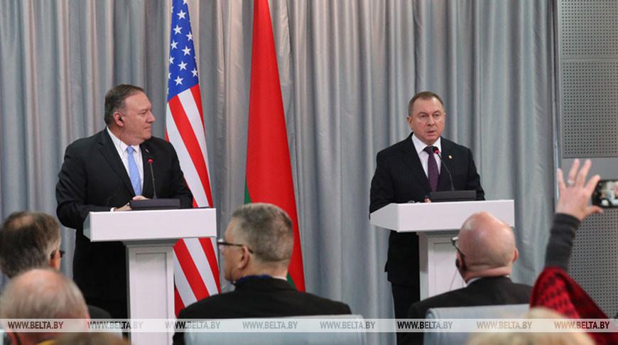 Госсекретарь США Майкл Помпео и министр иностранных дел Беларуси Владимир Макей. Фото из архива