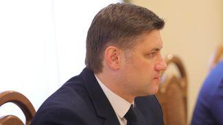 Алексей Богданов во время встречи