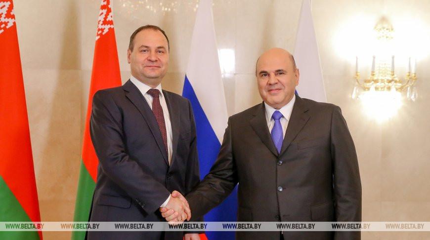 Роман Головченко и Михаил Мишустин
