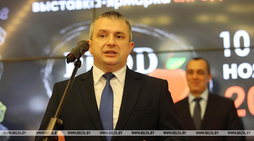 Иван Крупко во время открытия выставки