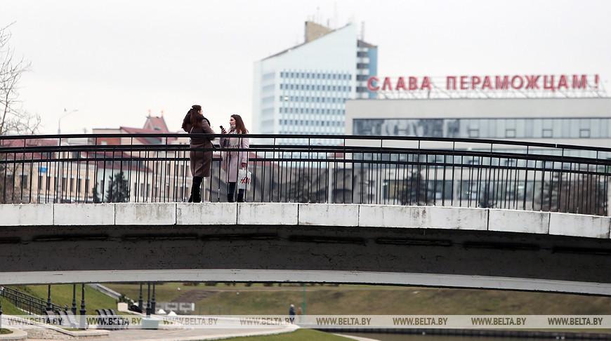 Вид на проспект Победителей в Минске