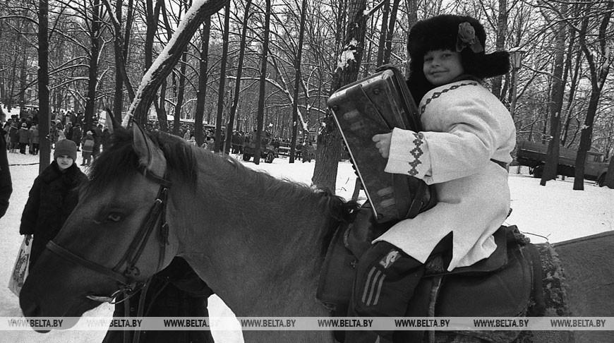 Праздник проводов зимы в Витебске, 2000 год