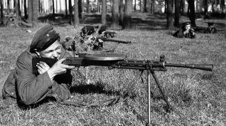Минское партизанское соединение. Партизаны на боевых учениях, 1943 год