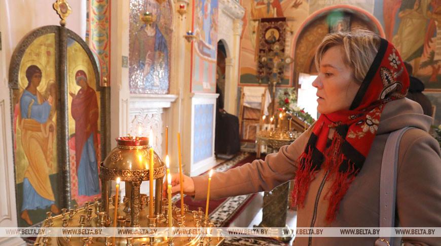 Во время праздничного богослужения в храме Благовещения Пресвятой Богородицы. Фото из архива