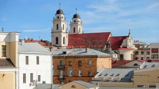 Вид на Архикафедральный собор Пресвятой Девы Марии в Минске