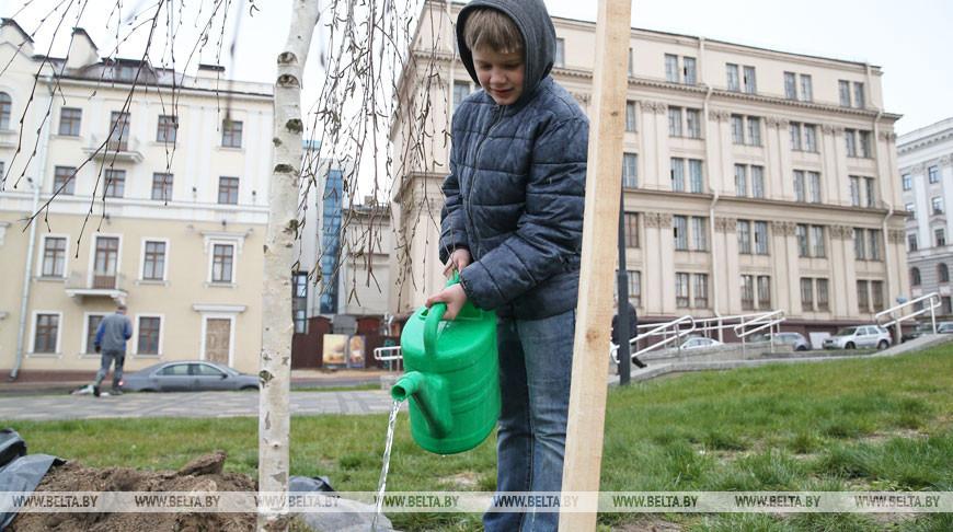 Во время субботника в Минске