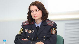 Марина Некрасова во время круглого стола