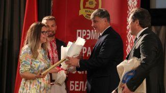 Надежда Матвеева во время награждения