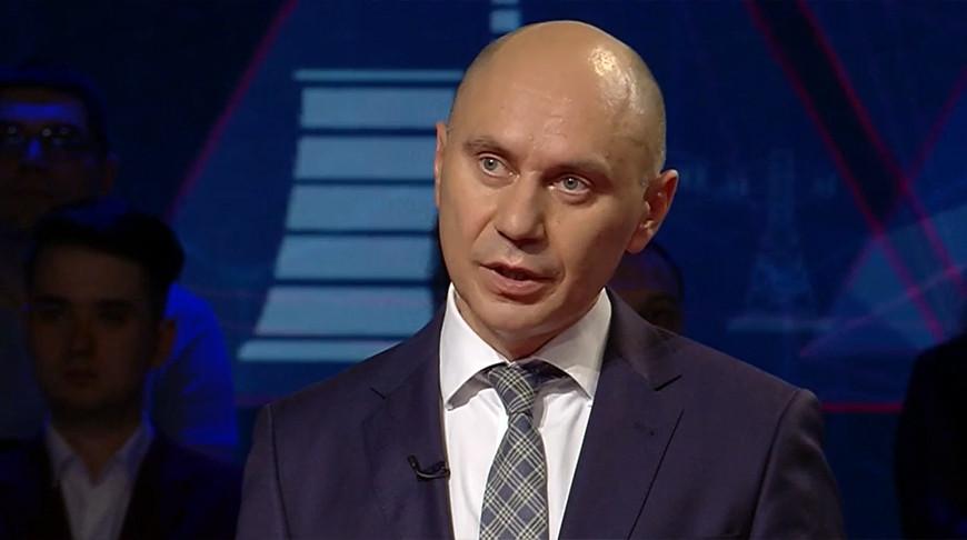 "Геннадий Казакевич. Скриншот видео ""Беларусь 1"""