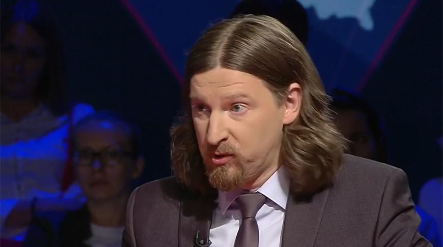 "Алексей Дзермант. Скриншот видео ""Беларусь 1"""