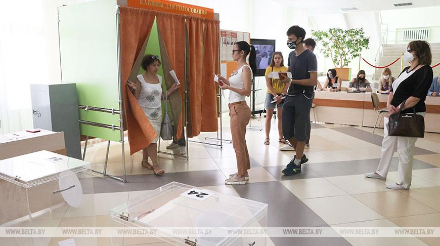 Голосование на участке №24 в Витебске