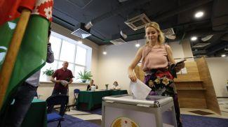 Во время голосования