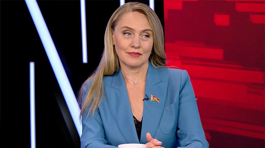 Член Постоянной комиссии по национальной безопасности Палаты представителей Марина Ленчевская. Скриншот видео СТВ