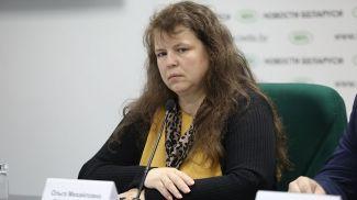 Ольга Верамей во время пресс-конференции
