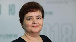 Ольга Колюпанова во время круглого стола