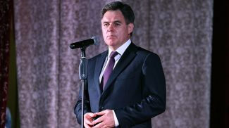 Заместитель премьер-министра Игорь Петришенко во время выступления