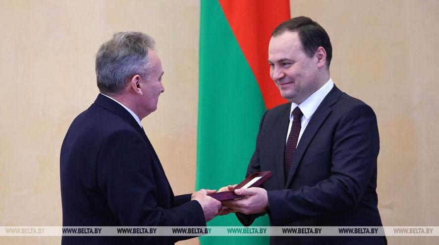 Роман Головченко во время вручения наград