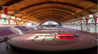 Во Дворце легкой атлетики в Гомеле. Фото manezh-gomel.by