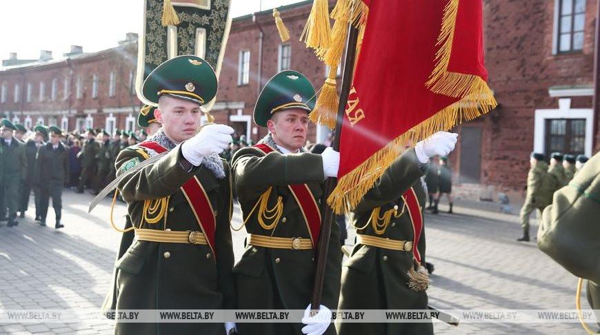 Пограничники из Брестской крепости дали старт Эстафете Победы