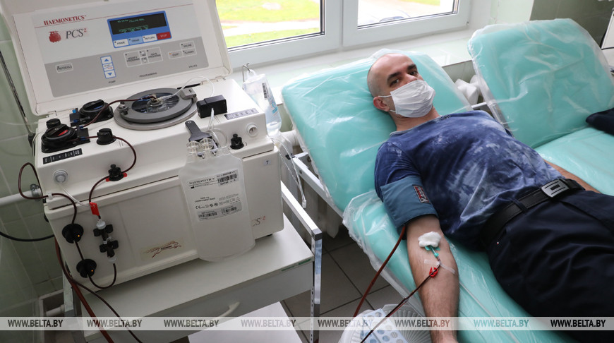 Во время сдачи плазмы крови