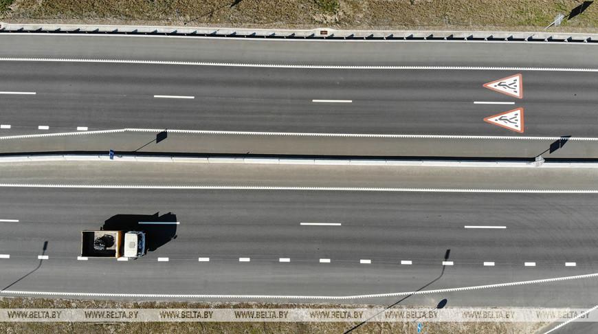 Благоустройство трассы М6 на участке между Гродно и Щучином продолжается.