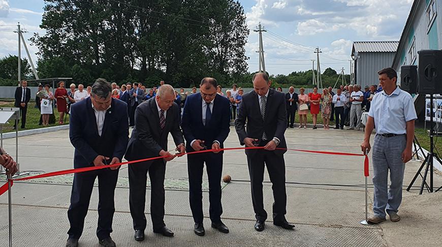 В Барановичском районе запустили производство торфяных топливных брикетов