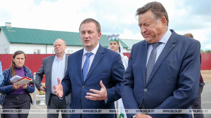 Председатель Миноблисполкома Александр Турчин и председатель правления Белкоопсоюза Валерий Иванов
