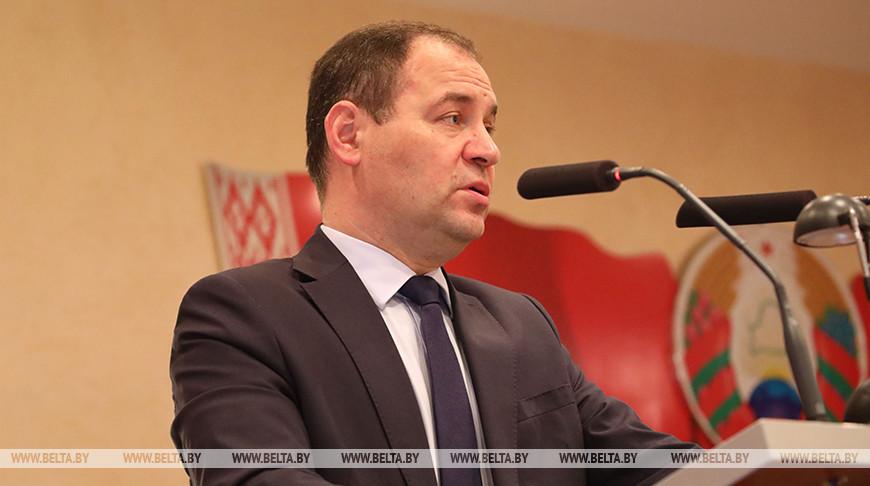 Роман Головченко во время встречи с трудовым коллективом