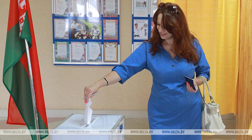 Анжела Борисенко на избирательном участке №78